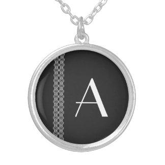 Monogram Silverpläterat Halsband