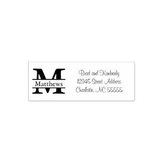 Monogram - själv som Inking adressfrimärket Självfärgande Stämpel
