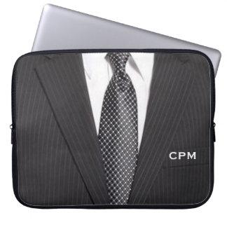 Monogramaffärskostym & Tielaptop sleeve Laptopskydd Fodral