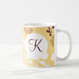 Monogramanpassningsbar skrivev ut kaffemugg