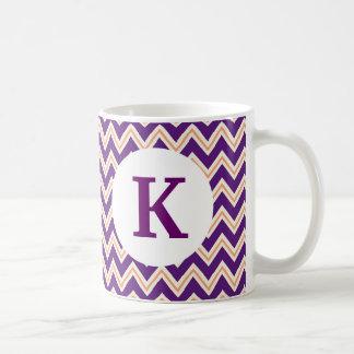 Monogramanpassningsbar skrivev ut sparren för kaffemugg