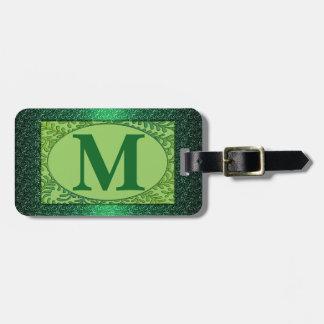 Monogrambagagemärkre Tag För Bagage
