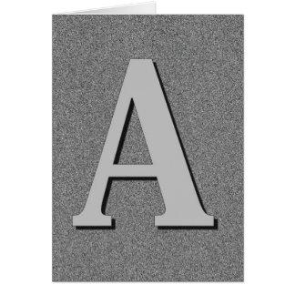 Monogrambrev A Hälsningskort