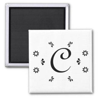 Monogrambröllopmagneter Magnet