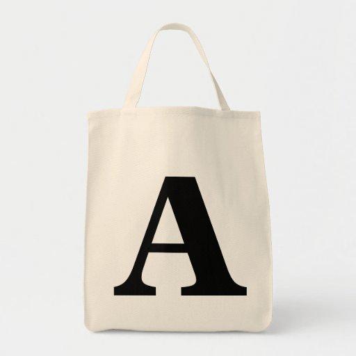 Monogramen hänger lös tote bags