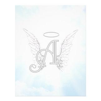 Monogramen märka med sina initialer A, ängelvingar Brevhuvud
