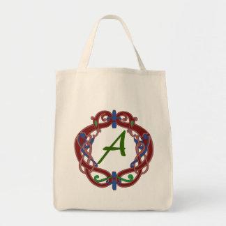 Monogramen märka med sina initialer en Celtic desi Kassar
