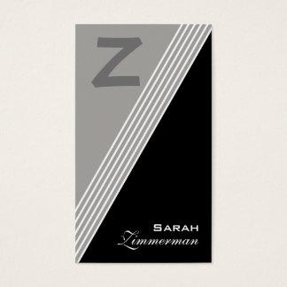 Monogramen metar kritiserar grå färgvisitkorten visitkort