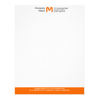 MonogramfärgFooter - orange Brevhuvud