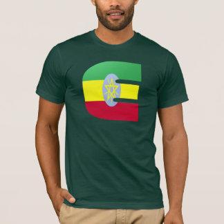 Monogramflagga för E (Etiopien) T Shirts