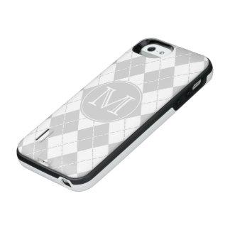 Monogramgrått och vit Argyle iPhone SE/5/5s Batteri Skal