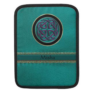 Monogramgröntläder med den Celtic fnurran Sleeve För iPads