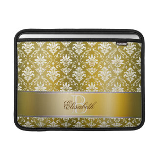 Monogramgulddamast MacBook Sleeve