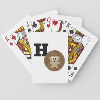 MonogramH är för igelkott Spelkort
