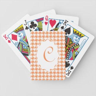 MonogramHoundstooth cykel som leker kort Spelkort
