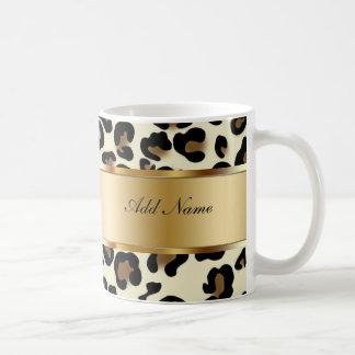 Monogramkaffe kopparLeopard Kaffemugg