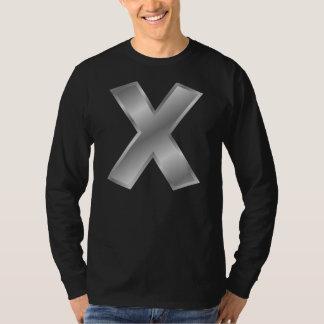 Monogrammanar för brev X grundläggande T-tröja för Tröja