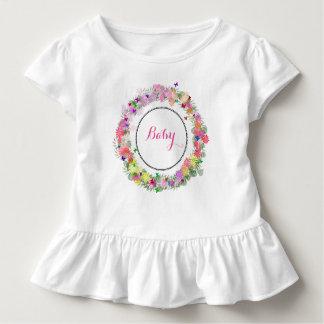 Monogrammed baby rufsad klänning tröjor