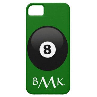 Monogrammed boll åtta på grön sammet Iphone 5 iPhone 5 Fodral