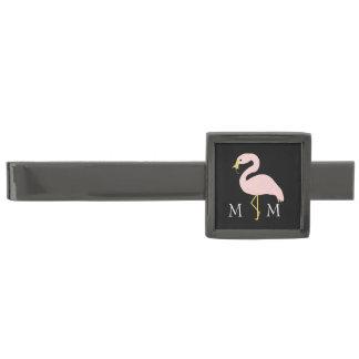 Monogrammed Flamingodesign Stålgrå Pläterad Slipsnål