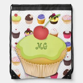 Monogrammed för muffins Drawstring Backpack3 Gympapåse
