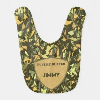 Monogrammed framtida jägare för kamouflage hakklapp