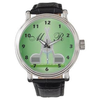 Monogrammed Golf Armbandsur
