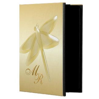 Monogrammed guld- slända iPad air skydd