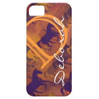 monogrammed hästar iPhone 5 skydd