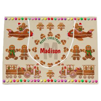 Monogrammed julaftonpepparkakakakor