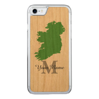 monogrammed karta av Irland Carved iPhone 7 Skal