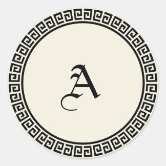 Monogrammed klistermärkear för anpassade runt klistermärke