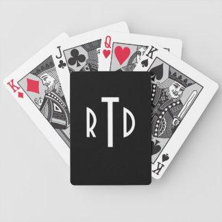 Monogrammed leka kort spelkort