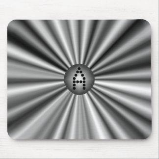 Monogrammed modernt silver för snyggtsvartvit musmatta