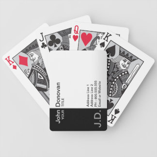 (monogrammed) professionellsvart/vit, spel kort