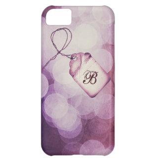 Monogrammed purpurfärgad Bokeh design iPhone 5C Fodral