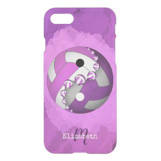 monogrammed rosa kvinna yin och yang volleyboll iPhone 7 skal