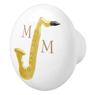 Monogrammed saxofon knopp
