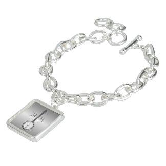 Monogrammed silverBanjodesign Berlockarmband