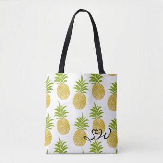Monogrammed toto för Posh ananas Tygkasse