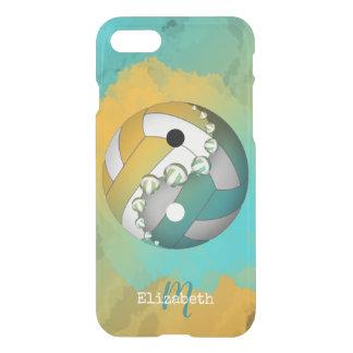 monogrammed turkosflicka yang för yin volleyboll iPhone 7 skal