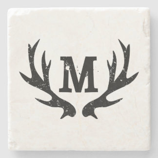 Monogrammed underlägg för sten för hjorthorn på