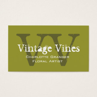 Monograms för blomsterhandlareanpassadevisitkort visitkort