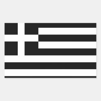 Monokrom Grekland flagga Rektangulärt Klistermärke