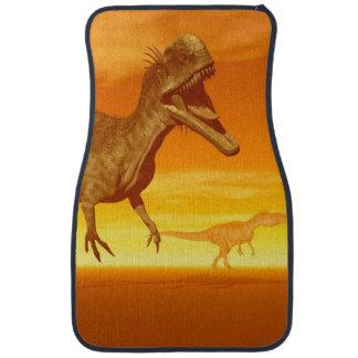 Monolophosaurusdinosaurs 3D framför Bilmatta