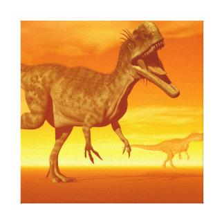 Monolophosaurusdinosaurs 3D framför Canvastryck