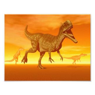 Monolophosaurusdinosaurs 3D framför Fototryck