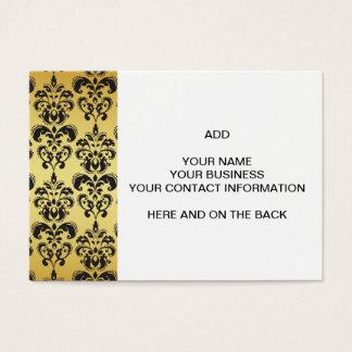 Mönster 2 för svart vintage för guld damastast visitkort