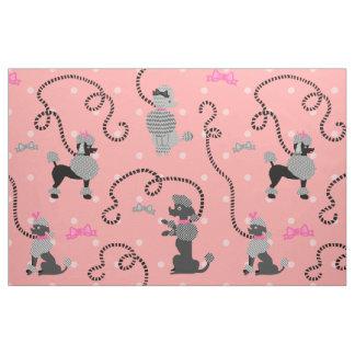 Mönster för 50-tal för pudelkjol Retro rosa och Tyg