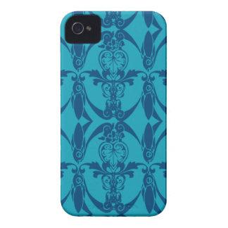 mönster för blått för iPhone 4 damastast knappt iPhone 4 Skal